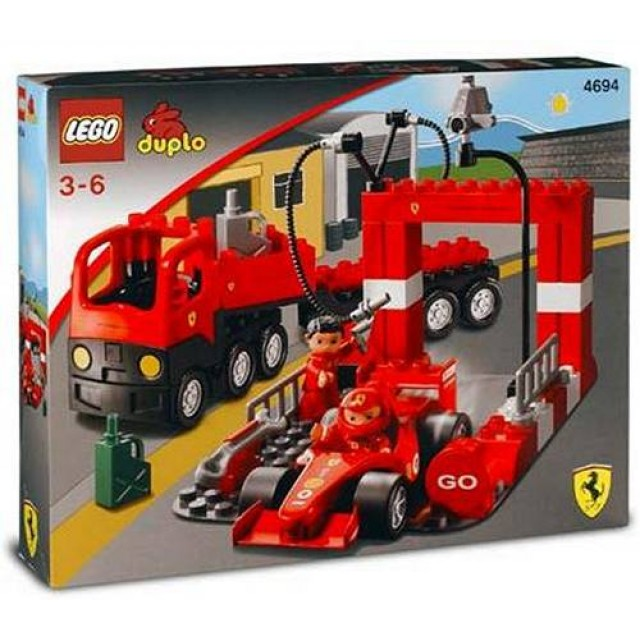 goedkoop lego duplo ferrari f1 racing team 4694 kopen bij. Black Bedroom Furniture Sets. Home Design Ideas