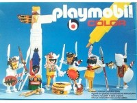 Playmobil Color Indianen met totempaal - 3620