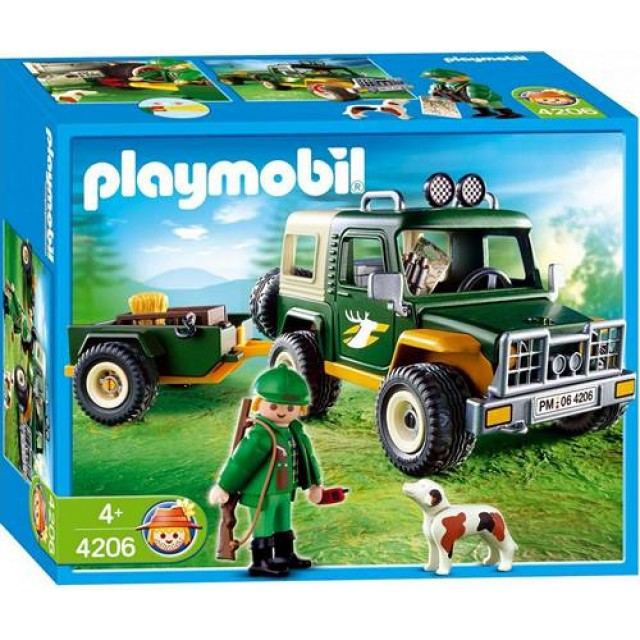 goedkoop playmobil jeep met boswachter 4206 kopen bij. Black Bedroom Furniture Sets. Home Design Ideas