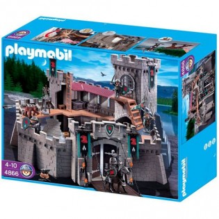 Goedkoop playmobil kasteel van de valkenridders 4866 for Plan chateau fort playmobil
