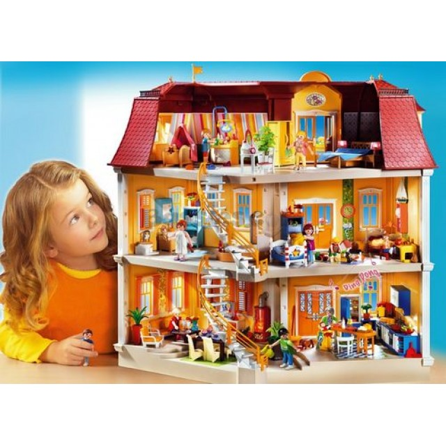 goedkoop playmobil groot woonhuis poppenhuis 5302 kopen. Black Bedroom Furniture Sets. Home Design Ideas