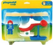 Playmobil 1.2.3 Reddingshelikopter - 6738