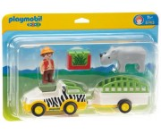 Playmobil 1.2.3 Neushoorn transport - 6743