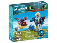 Playmobil Dragons Astrid in vliegpak en Schrokop - 70041