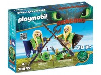 Playmobil Dragons Schorrie en Morrie in vliegpak - 70042