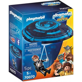 Playmobil The Movie Rex Dasher met Parachute - 70070