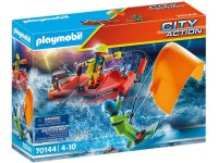 Playmobil Kitesurfer redding met boot - 70144