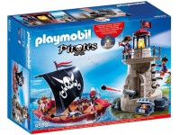 Playmobil Piratenboot en vuurtoren met soldaten - 9522