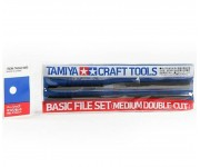 Tamiya Vijl set medium double cut (3 stuks) - 74046