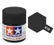 Tamiya X-18 Semi gloss black 23 ml - 81018