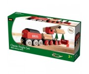 BRIO Authentieke treinset houttransport - 33010