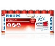 Philips PowerLife alkaline AAA batterij (potlood) 16st